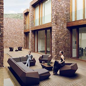 Ramon Esteve菱形沙发:Paz & Comedias西班牙巴伦西亚住宅 设计案例
