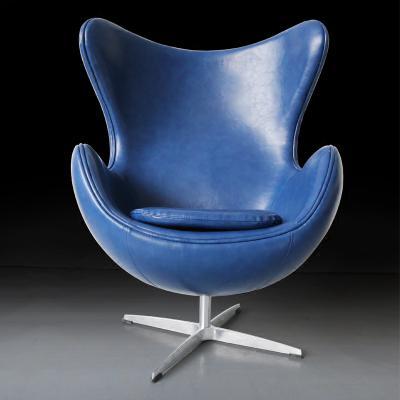 成人版座椅皮质电视电影广告道具出租 宜家定制 黄色真皮款雅各布森Arne Jocabsen丹麦设计师