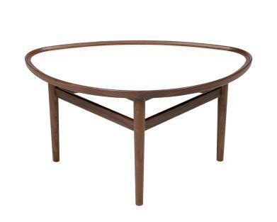 Finn Juhl 眼睛茶几 丹麦设计师芬·居尔艺术中式家具实木复古