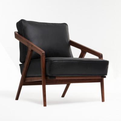 中式 Dare Studio Katakana Lounge Chair 北欧休闲椅 实木椅 会所椅
