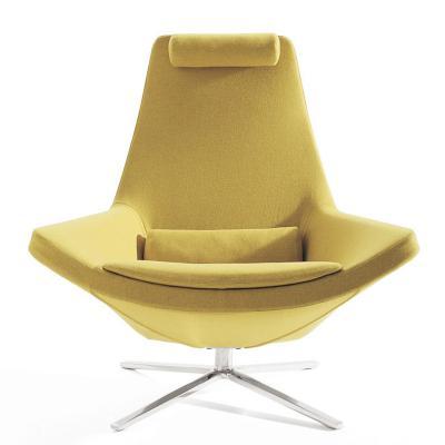 Metropolitan Armchair鸟椅布艺BEB ITALY不锈钢休闲椅旋转沙发椅酒店家具