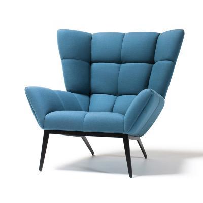 休闲方块椅Tuulla chair北欧经典实木布艺肌肉稻壳椅面包椅躺椅