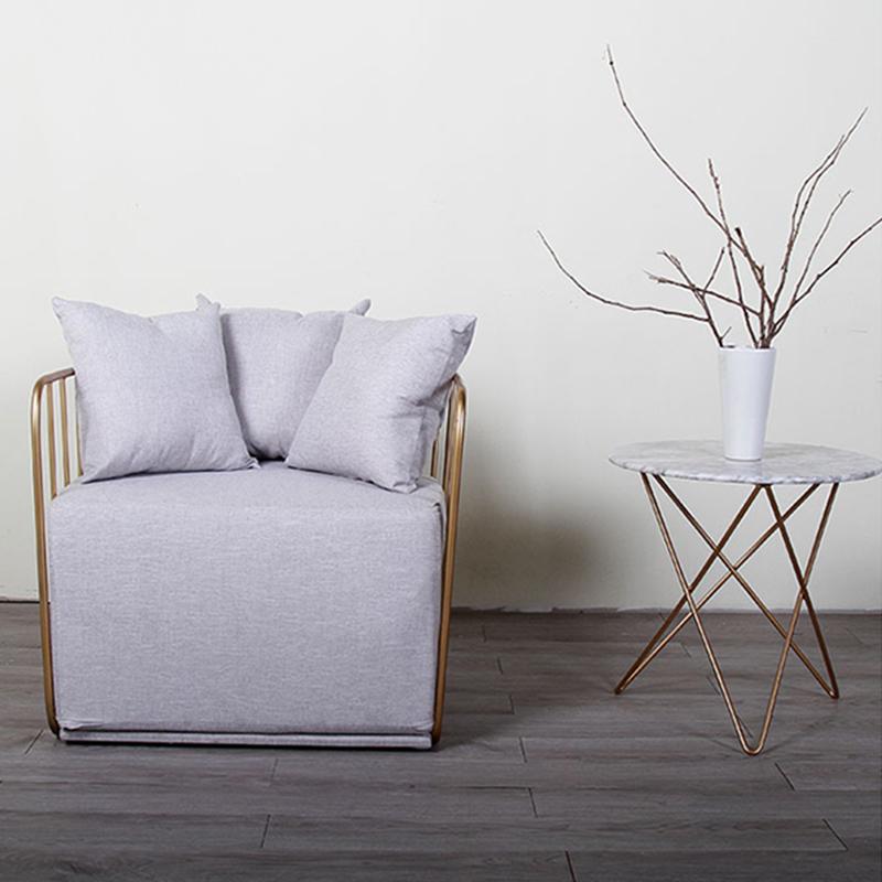暖色款新娘面纱椅不锈钢休闲椅北欧简约躺椅 电视电影广告道具出租 宜家定制