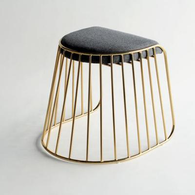 304不锈钢电镀 玫瑰金矮 吧凳休闲椅 五金脚踏 布艺真皮仿皮沙发椅