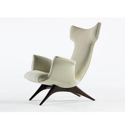 玻璃钢休闲椅vladimir kagan ondine chair  别墅家具休闲躺椅木质