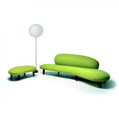 鹅卵石弧形沙发Freeform Sofa日式沙发简易客厅家具Nogach Isamu(野口勇)