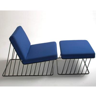 reza feiz不锈钢网椅Wired Italic Chair脚踏椅躺椅铁线休闲椅规格可定制