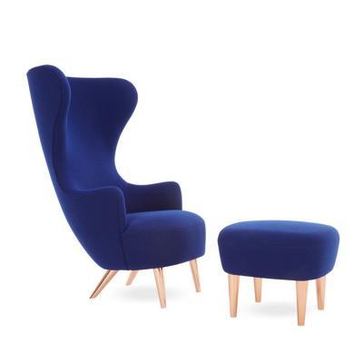 北欧实木高背扶手椅酒店样板房接待椅休闲躺椅 英国 高背沙发