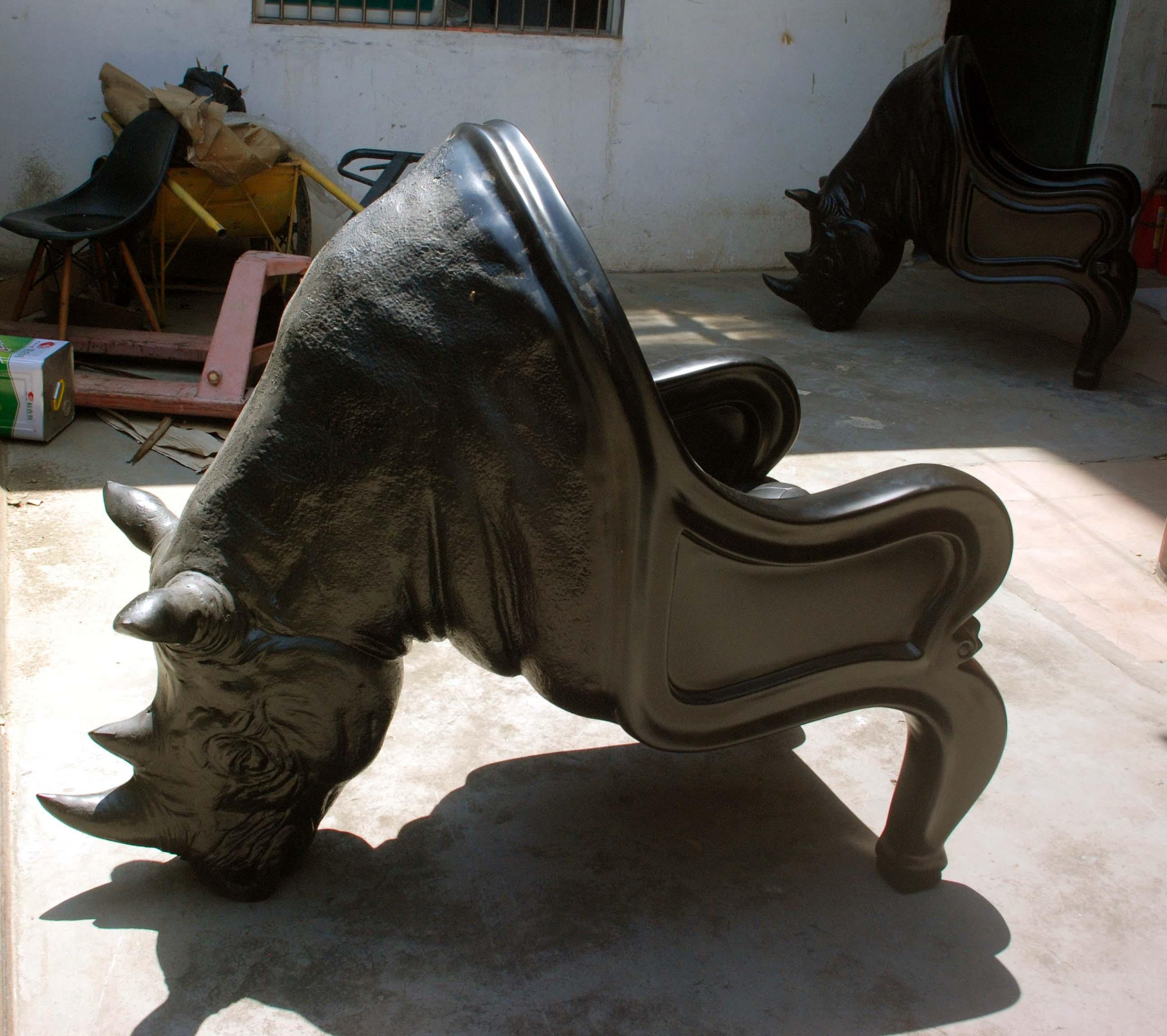 犀牛椅Maximo Riera Rhino Chair 动物座椅 霸气牛头椅 犀牛雕塑