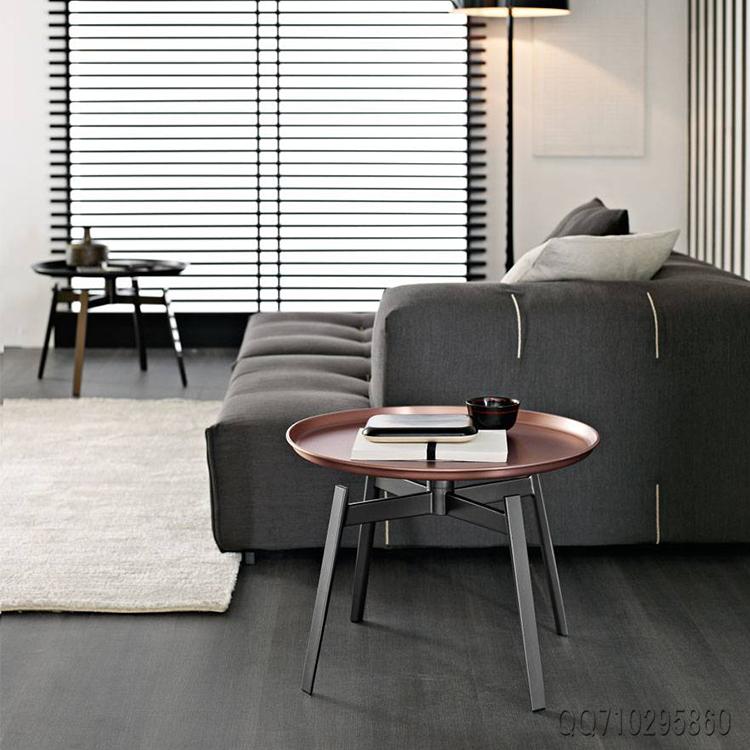 建筑室内 设计师茶几 稻壳边几  圆盘茶几居家豪华 经典耐看百搭