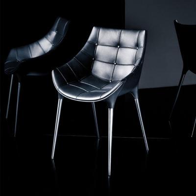 黑色款 卡西纳热情椅Passion Armchair  戴安娜扶手椅 餐椅 真皮餐椅