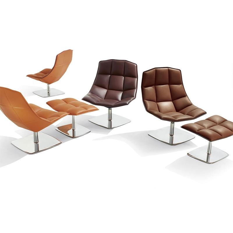 面包方块椅Knoll jehs+laub chair金属创意经典线型躺椅玻璃钢椅