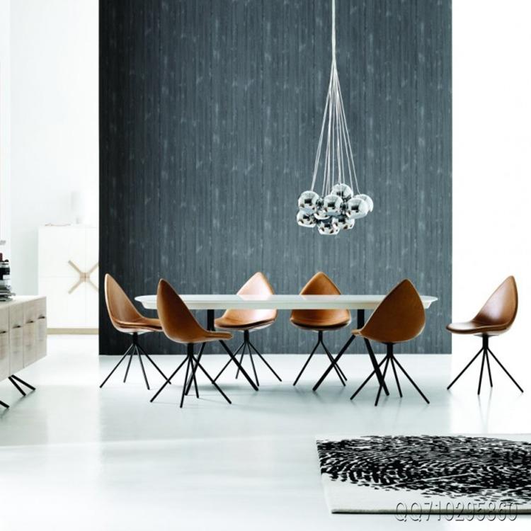 电镀 面料颜色高品质皮质 餐椅北欧风情电脑树叶椅尖嘴尖角椅设计师椅