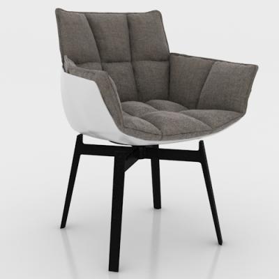 白色玻璃钢款稻壳餐椅 创意米兰家具玻璃钢肌肉椅 颜色面料可定制