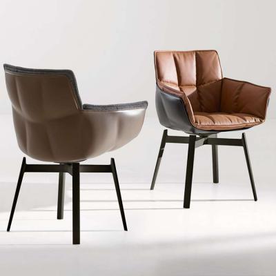 有色玻璃钢餐椅HUSK Chair设计师稻壳办公椅创意椅靠背椅暖色