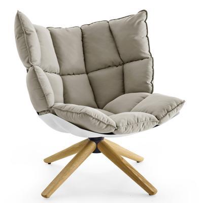 灰色款稻壳椅肌肉玻璃钢稻田洽谈酒店休闲椅Lueasygi Husk chair Patricia Urquiola
