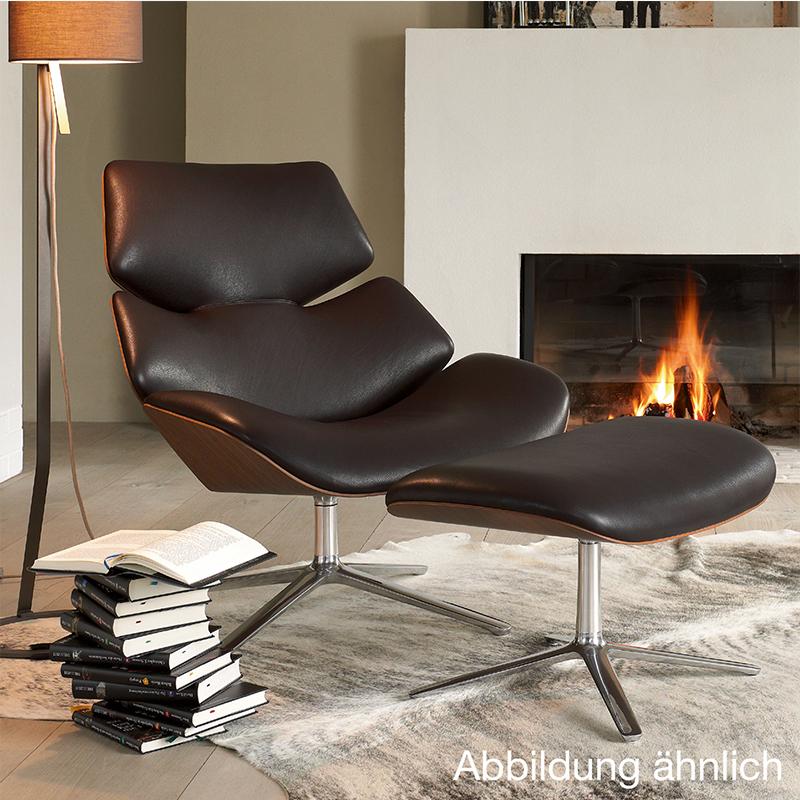 虾仁椅Shrimp Chair 带脚踏 经典设计师休闲躺椅 弯板曲木真皮样品房椅