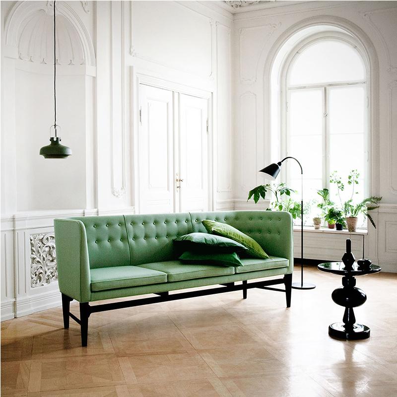 拉扣实木布艺沙发Mayor sofa简约北欧现代经典设计师办公商务沙发可定制