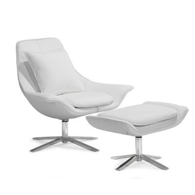 办公设计师椅Vital lounge chair真皮沙发椅商务洽谈椅样板房接待椅