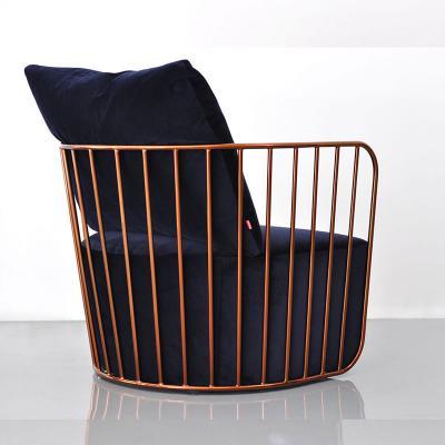 香槟金冷色单人新娘面纱不锈钢休闲北欧简约躺椅 面料规格颜色可定制 高端家具