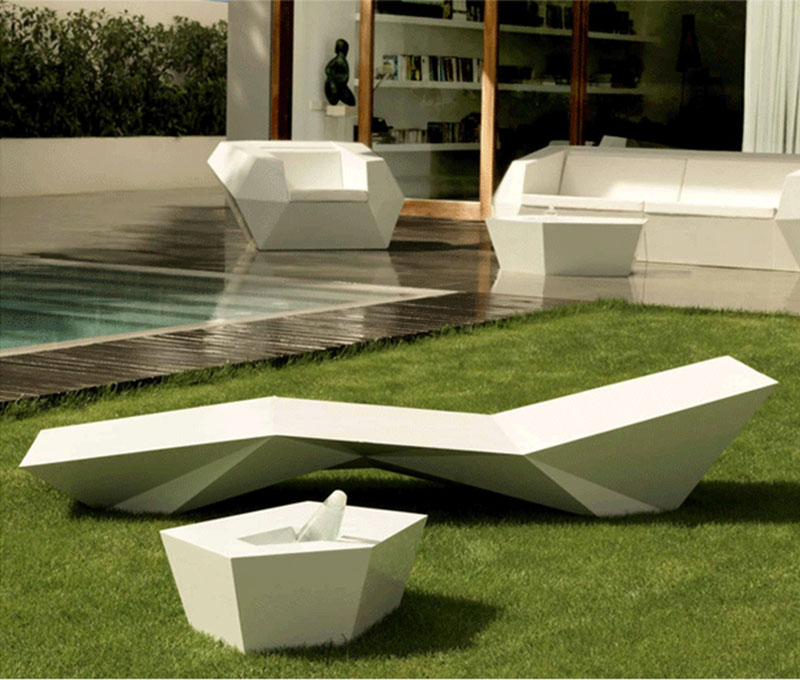 玻璃钢沙发Sun Bed经典设计师家具玻璃钢户外沙滩休闲躺椅太阳床