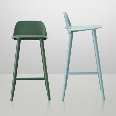 HAY木质吧椅北欧色彩时尚创意设计师酒吧椅样板房酒店会所高脚凳