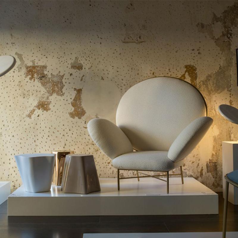 五金脚架单人沙发Stoy armchair 双人茶几板房设计休闲椅