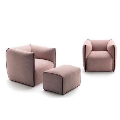 简约单人沙发mia chair现代实木扪布膨胀创意经典休闲椅软体定制