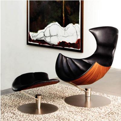 龙虾躺椅Lobster Chair 经典曲木休闲躺椅玻璃钢弯板北欧酒店休闲椅
