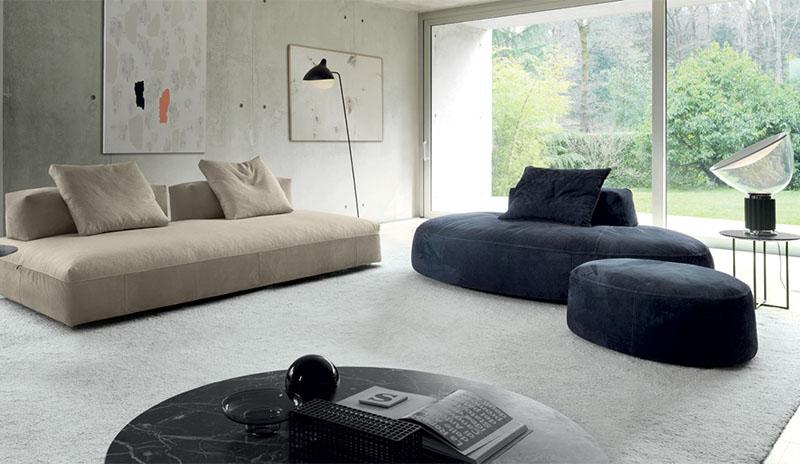 圆形沙发Milos sofa现代休闲样板房设计师配套酒店沙发颜色可定制