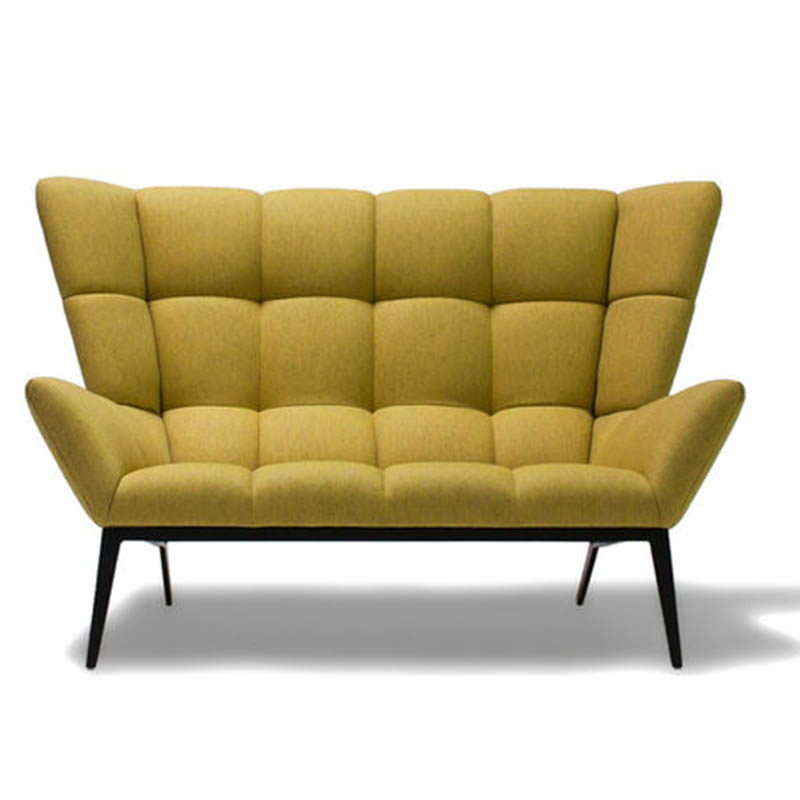 肌肉稻壳双人位Tuulla Sofa Chair实木金属布艺休闲沙发方块椅公共区域