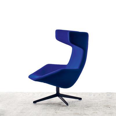 布艺冷色系列Take A Line For A Walk Chair设计师公牛椅创意舒服休闲椅带脚踏