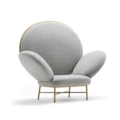 五金脚架单人椅Stoy armchair 现代时尚会所样板房设计休闲椅