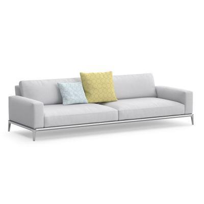意大利布艺沙发Poliform Park Sofa现代简约休闲布艺组合金属沙发