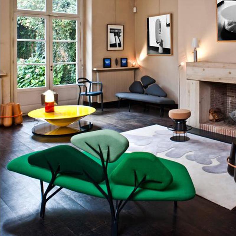 三角形几何图贝佳斯沙发borghese se sofa酒店会所 样板房布艺沙发