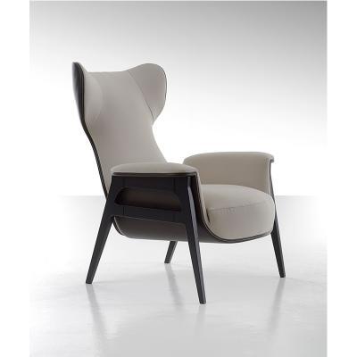 木质休闲沙发Cerva Chair北欧会所别墅实木布艺椅酒店西餐厅咖啡馆