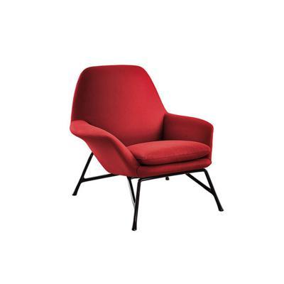 五金脚休闲沙发躺北欧设计师椅创意会客接待洽谈椅 护肤养生美发家具