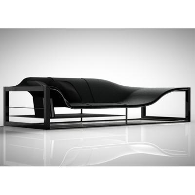 玻璃钢异型休闲躺Bucefalo Sofa 椅酒店设计家具by Italian designer Emanuele Canova