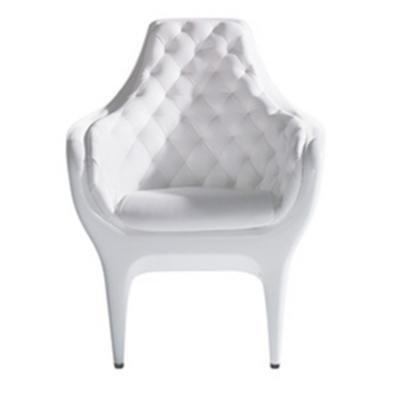 白色款玻璃钢休闲椅SHOWTIME Armchair 设计师Jaime Hayon家具单人扶手椅