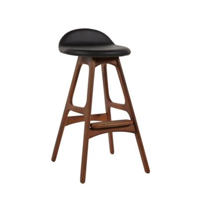 Erik Buch实木 中式BarStool创意时尚高吧椅酒店吧椅KTV吧椅咖啡厅吧凳 设计吧椅