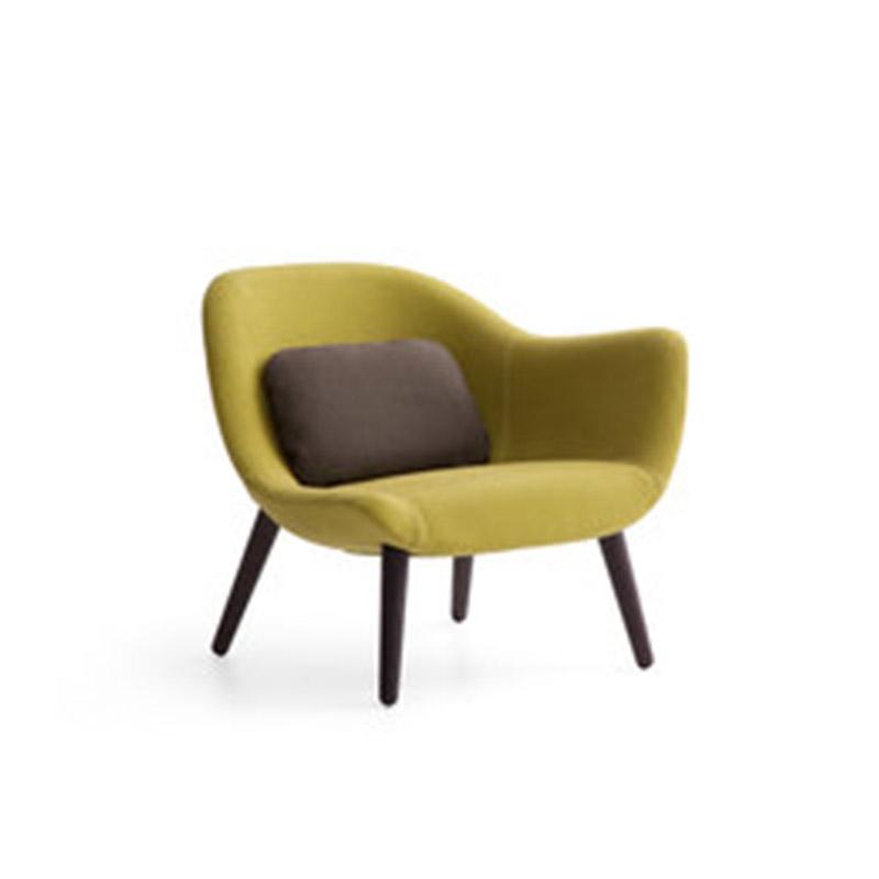 布艺北欧设计师椅玻璃钢休闲椅 餐椅 咖啡单椅 lueasygi MAD lounge chair