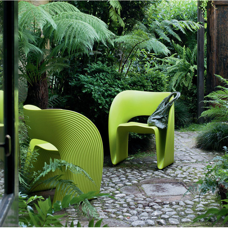 纹路玻璃钢椅户外休闲椅 公共酒店户外椅Raviolo Chair Ron Arad  Magis
