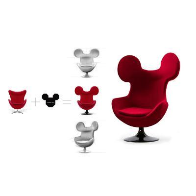 玻璃钢米奇椅 儿童乐园休闲躺椅 休闲椅北欧欧美家具高端个性定制