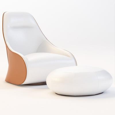 真皮创意个性异形沙发椅Zanotta 875 Derby Chair休闲椅北欧设计师椅