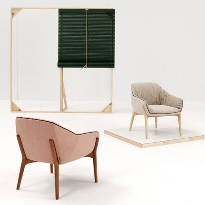 布艺鸟巢扶手椅Rafa Garcia 巢形椅 PU真皮定制家具设计师休闲椅