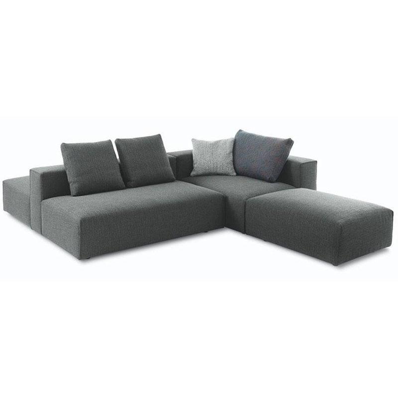 多人蒙蒂沙发DOMINO北欧现代简约意大利进口牛皮沙发组合沙布艺沙发