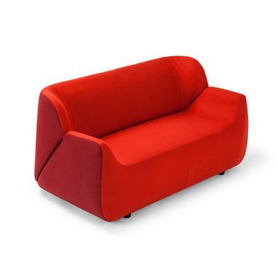 红色莱昂纳多沙发Rossano阿拉丁扶手椅北欧时尚小户型沙发 时尚简约