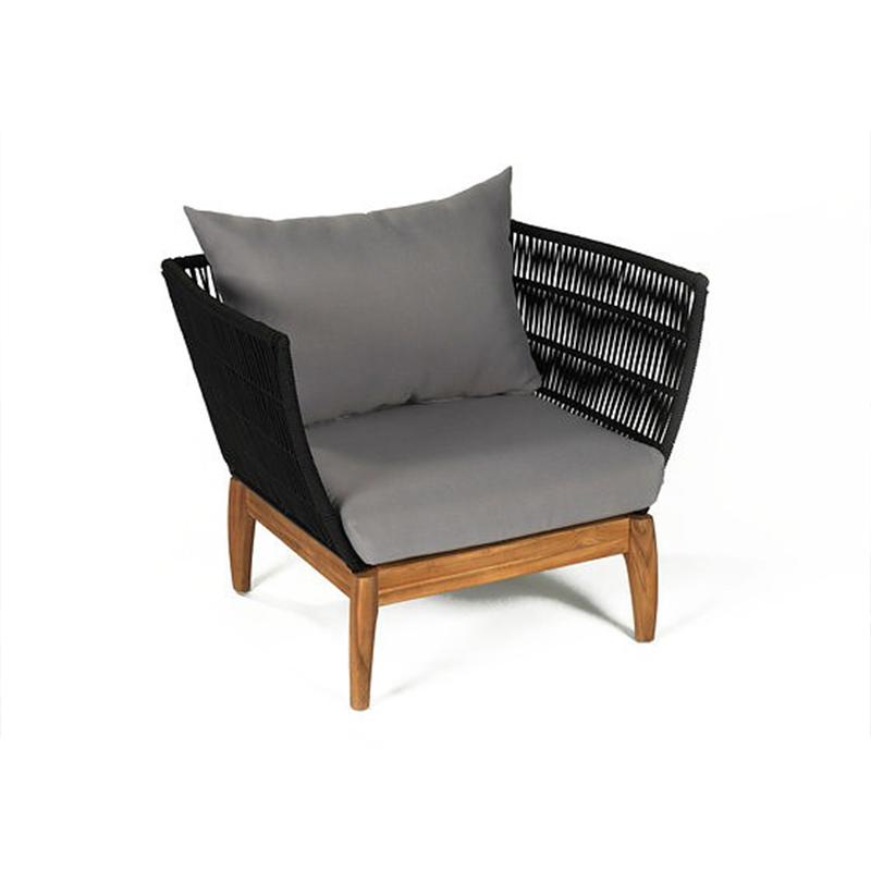 双人单人兰伯特Miikka沙发 休闲沙发椅网状椅实木脚布艺