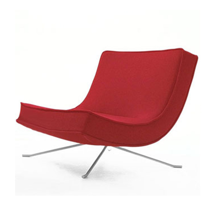 基督教布艺椅子Werner流行北欧时尚休闲躺椅 酒店小户型家居躺椅