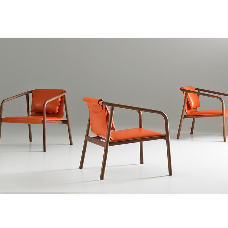 奥斯陆躺椅 Made in USA by Bernhardt Design实木架构椅